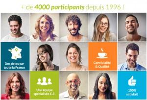 Plus de 4000 participants depuis 1996